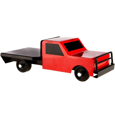 Flatbed Farmtruck: Red Flatbed Farm Truck