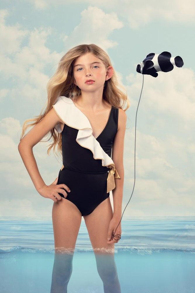 Cleopatra Swimsuit Black & White