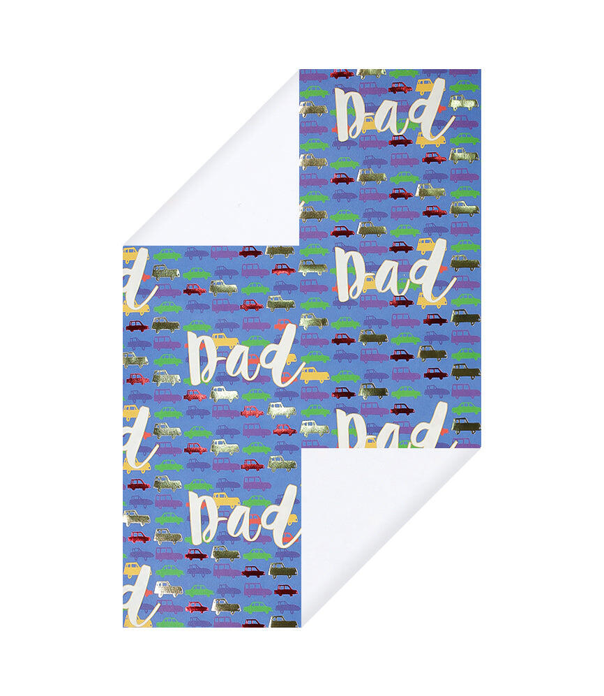 Dad Cars Wrapping Paper
