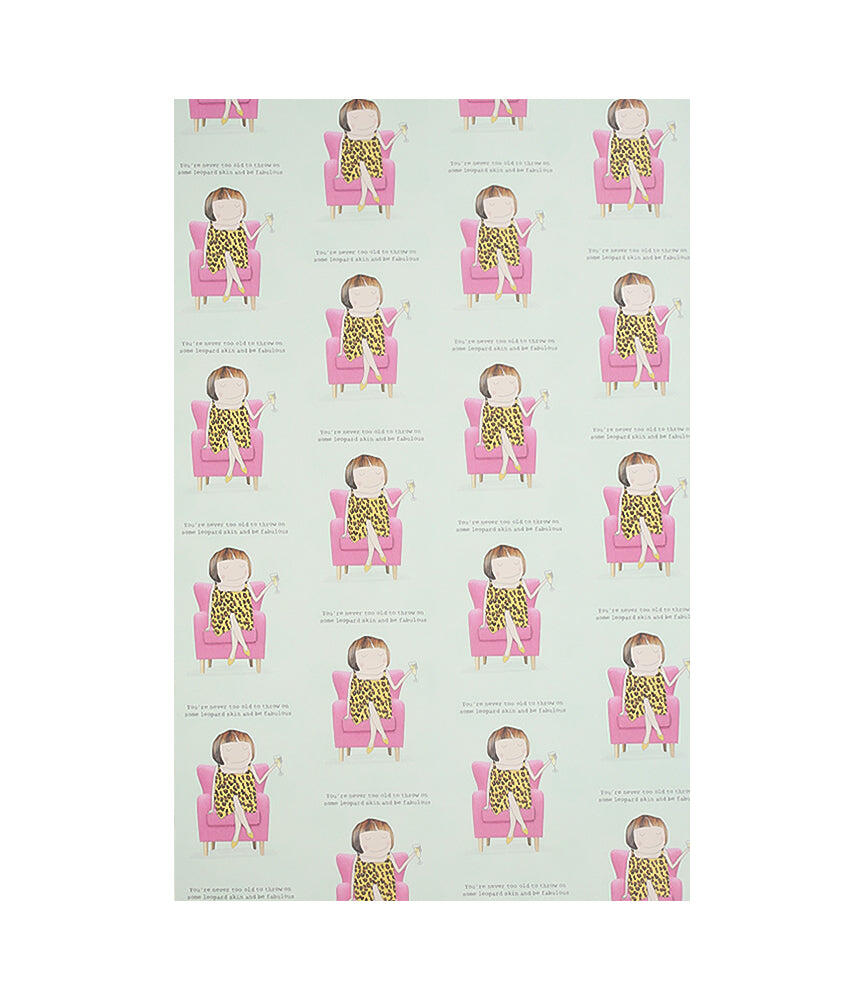 Rosie Fabulous Leopard Skin Wrapping Paper