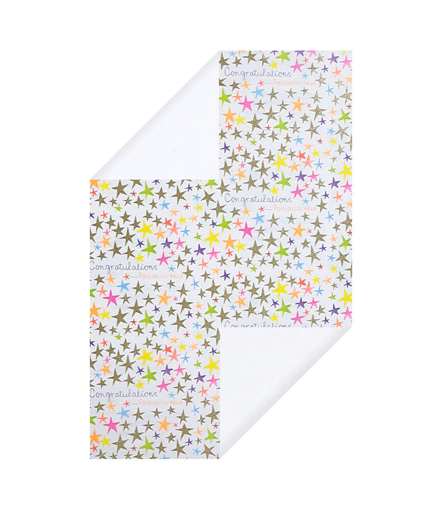 Congrats Stars Wrapping Paper