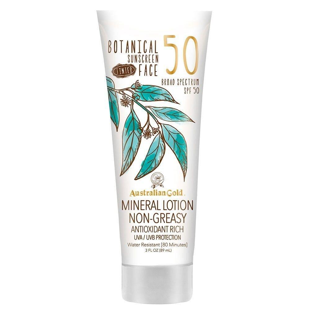 Australian Gold Botanical Sunscreen Face Mineral Lotion Non-Greasy Spf 50