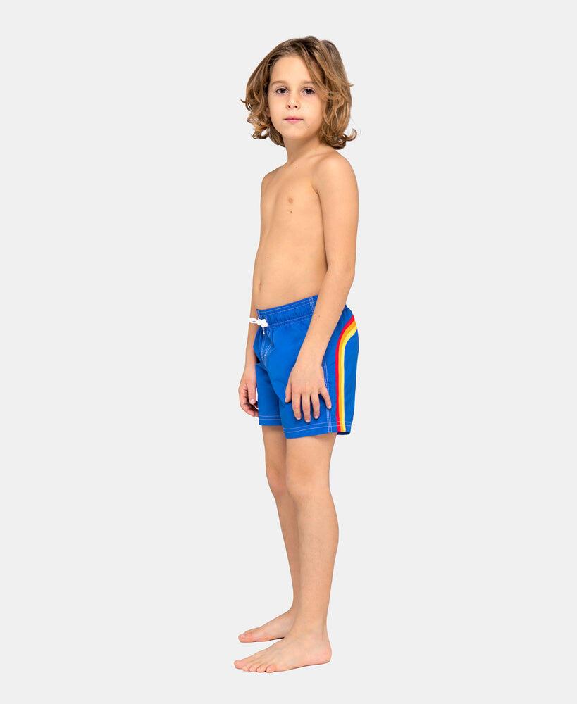 Boys Elastic Waist Swim Trunks Vintage Sapphire