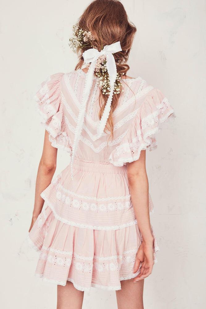 Gwen Dress Pearly Pale