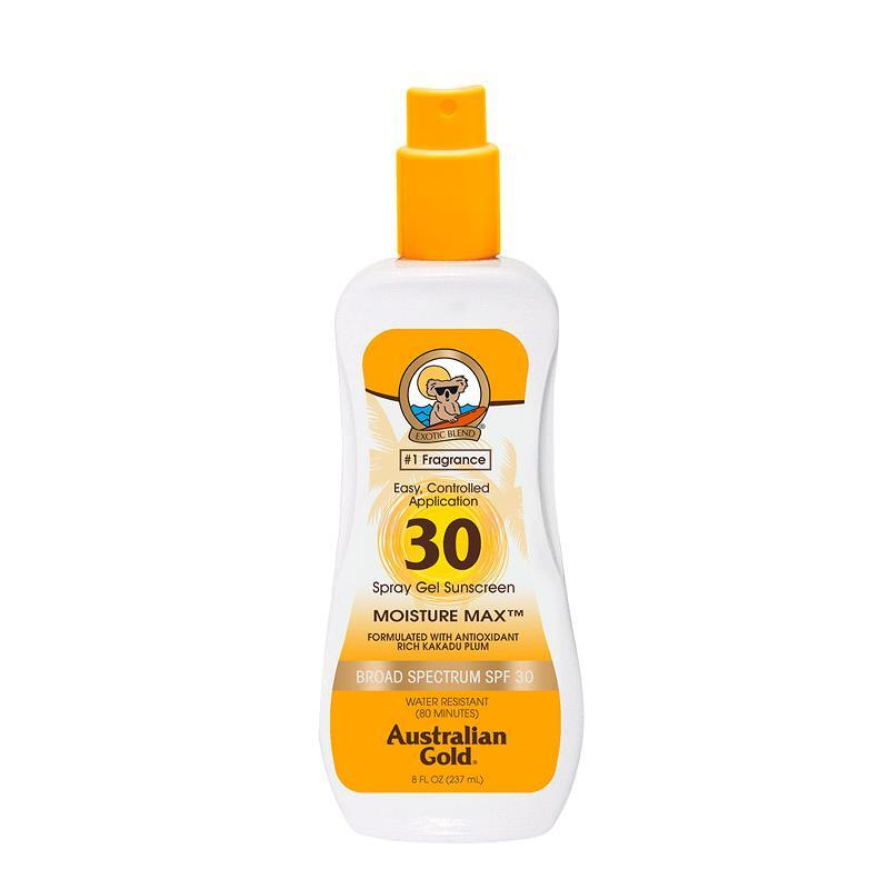 Australian Gold Spf 30 Spray Gel Sunscreen Moisture Max