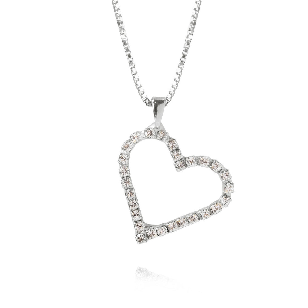 Sweetheart Necklace Crystal Rhodium