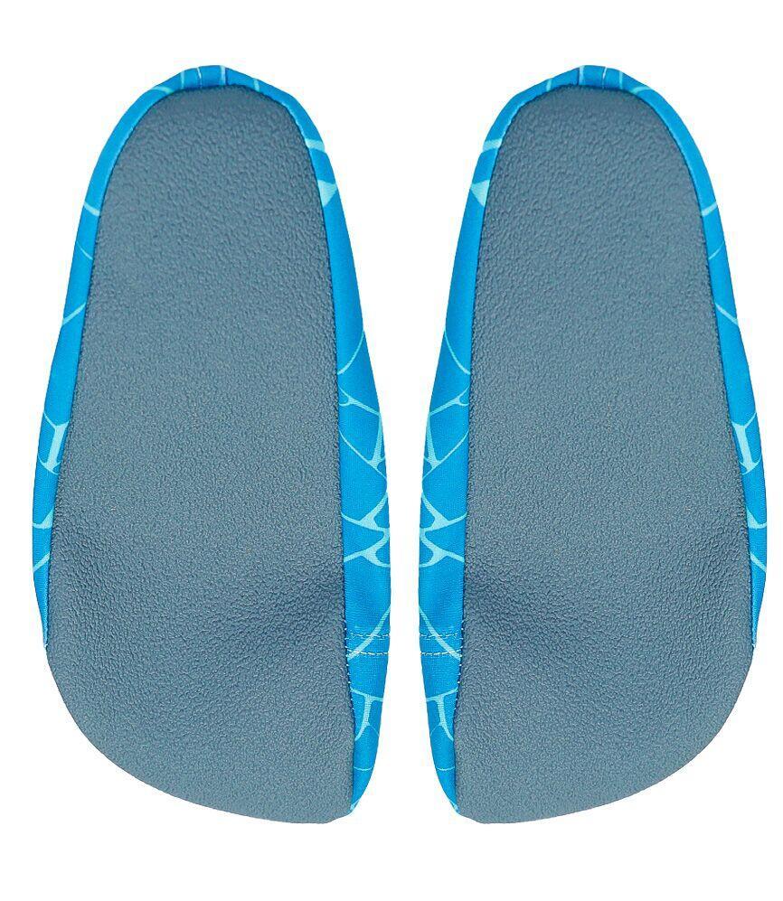 CoegaTeal Cracks Pattern Pool and Beach Shoes