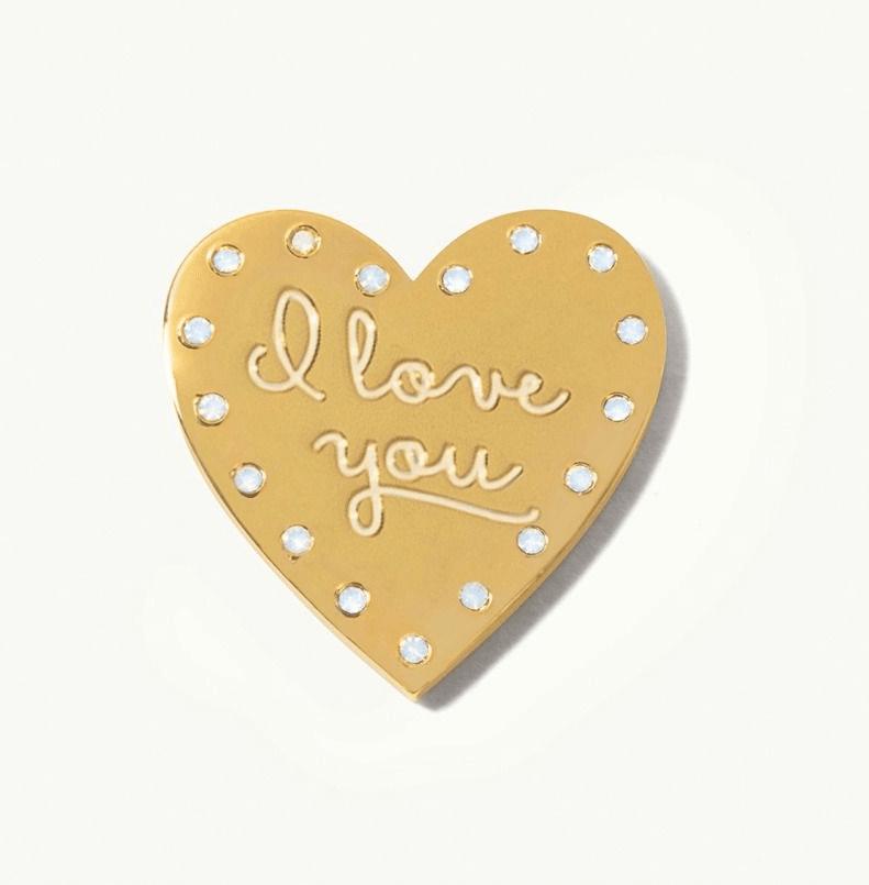 Locket Note Gem Heart I Love You