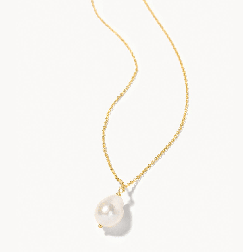 """Oh Shell Necklace 18"""" Young And Crazy/Pearl"""