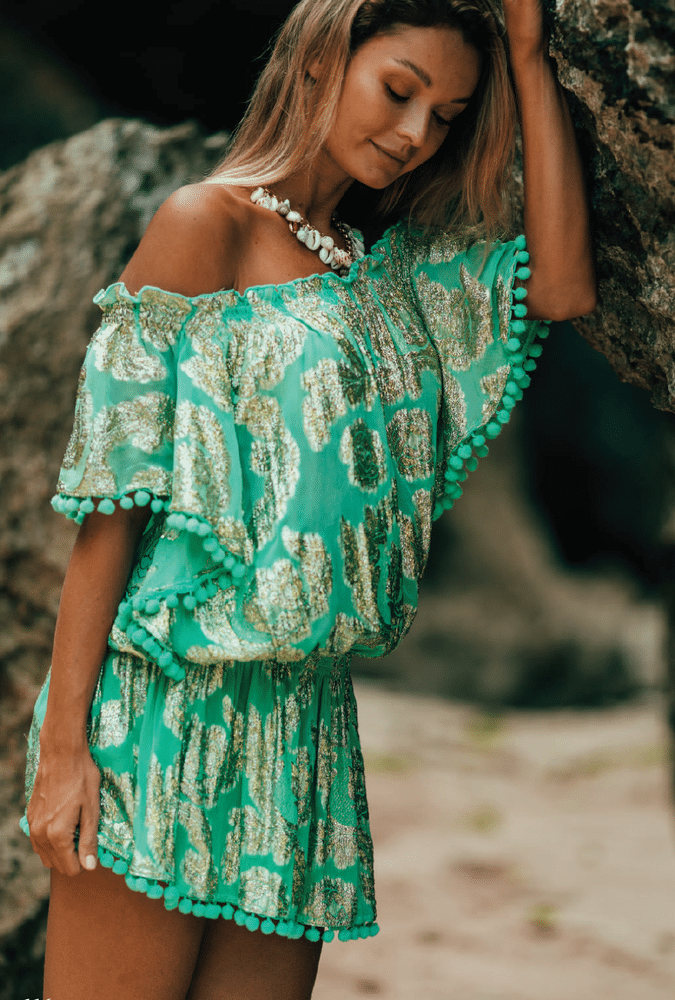 River Dress Turquoise