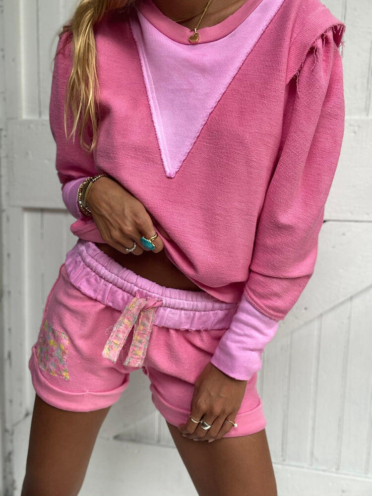 Anthea Short Party Pink Hand Dye