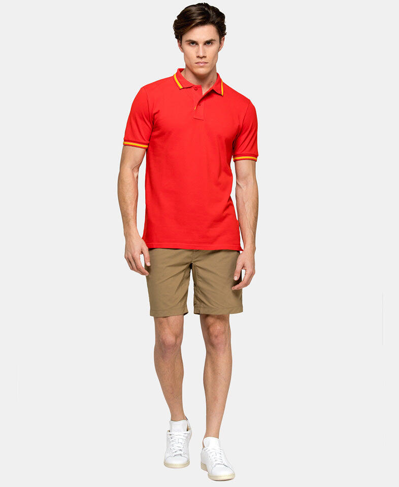 man wearing a sundek polo shirt for men