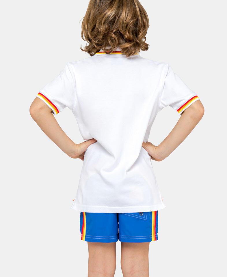 sundek white polo shirt