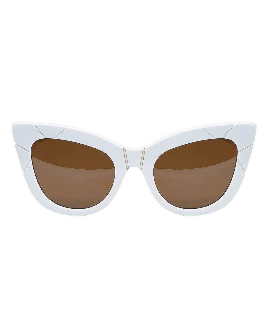 Pared Puss & Boots White/White Sunglasses