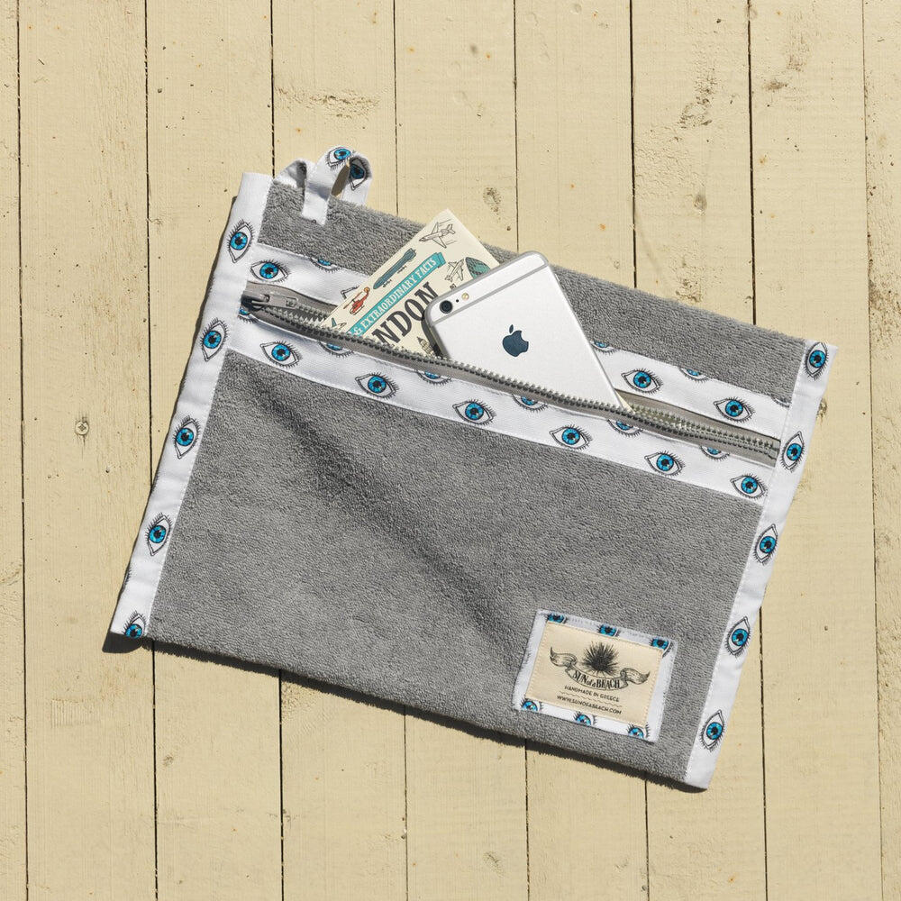 Watch Out Grey Waterproof Pouch