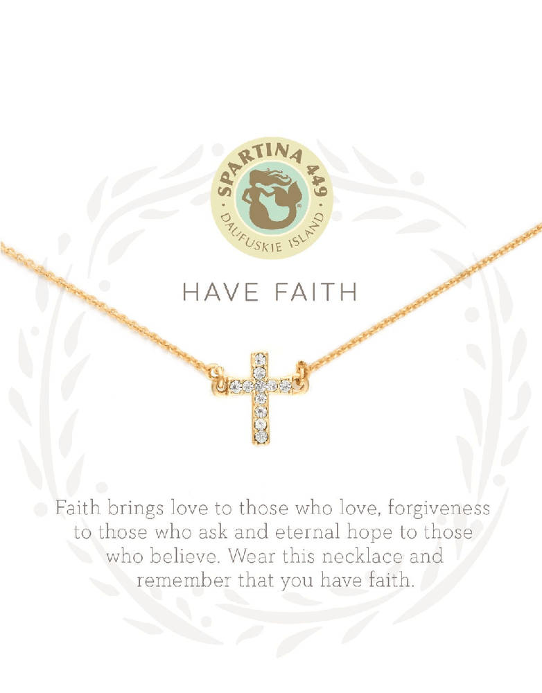 "Sea La Vie Necklace 18"" Have Faith/Cross"
