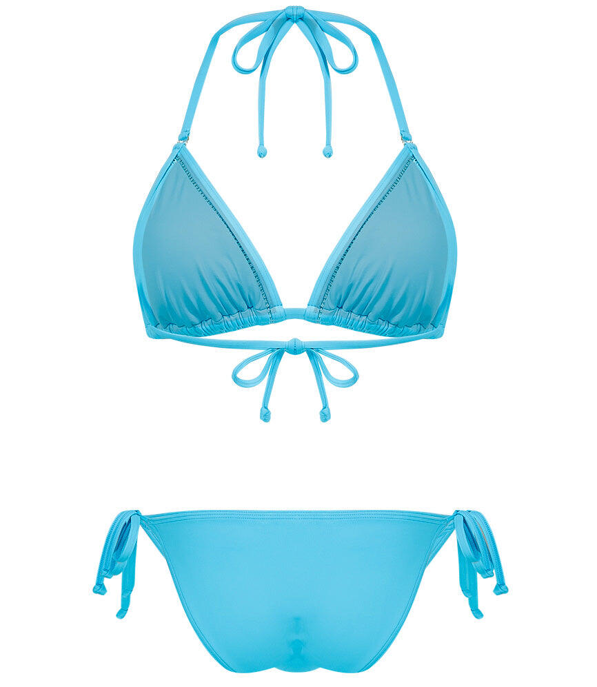 Solids sliding triangle top with removable cups bachelor blue