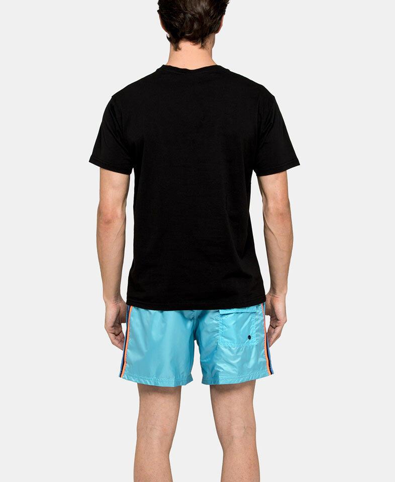 men's geometric print t shirt back