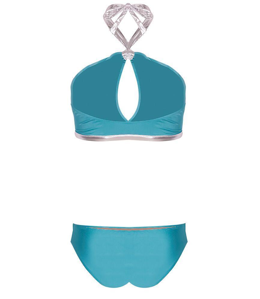 Adriana Degreas Halterneck Bikini with Silver Ties