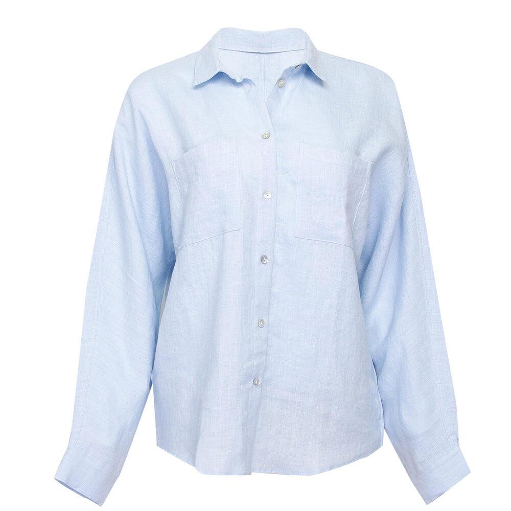 Baby Blue Linen Shirt