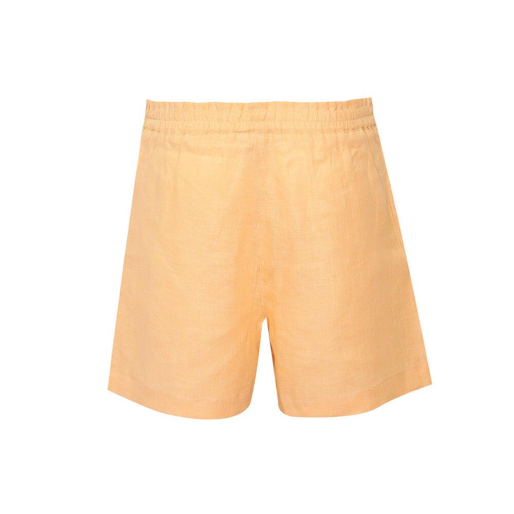 Sand Yellow Linen Shorts