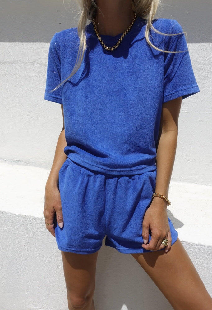 Terry Towelling Set French Blue