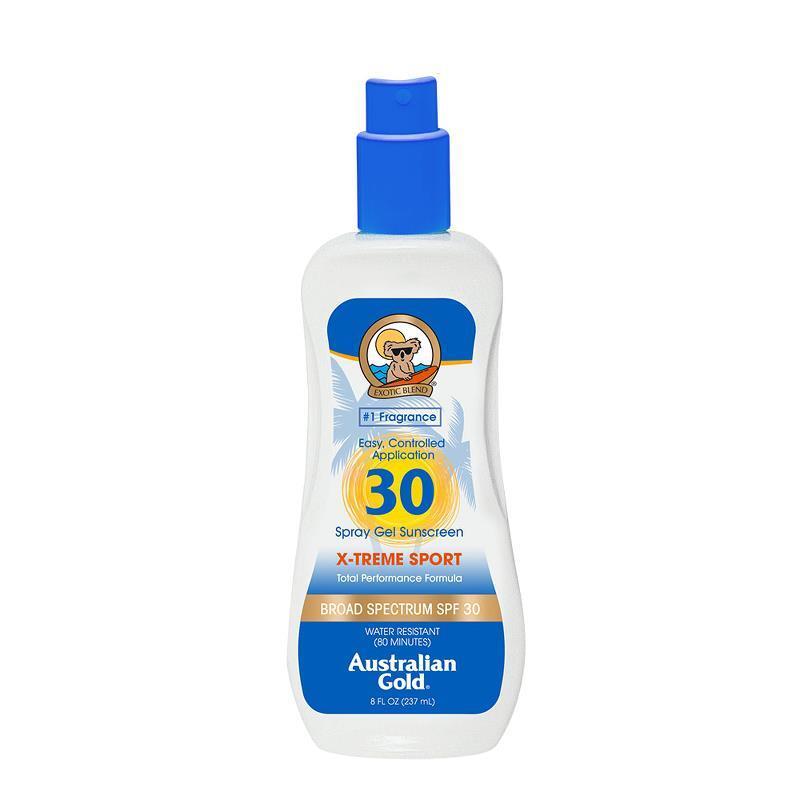 Australian Gold Spf 30 Xtreme Sport Spray Gel Sunscreen
