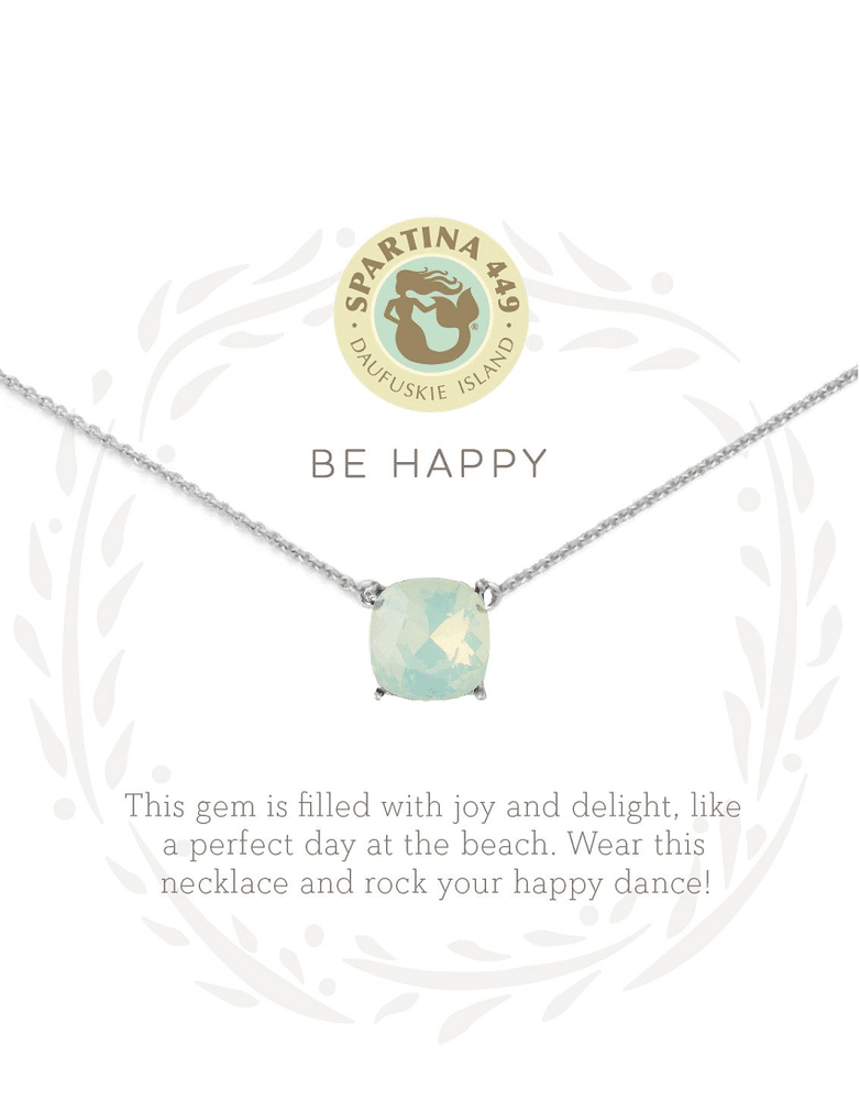 "Sea La Vie Necklace 18"" Happy/Sea Green Silver"