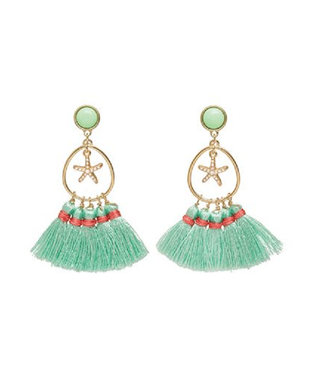 Beach Fun Earrings Mint