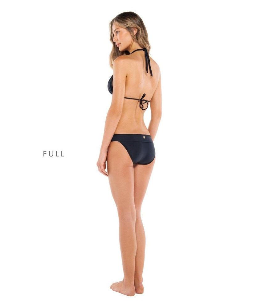 Solid Bia Tube Bikini Top Black