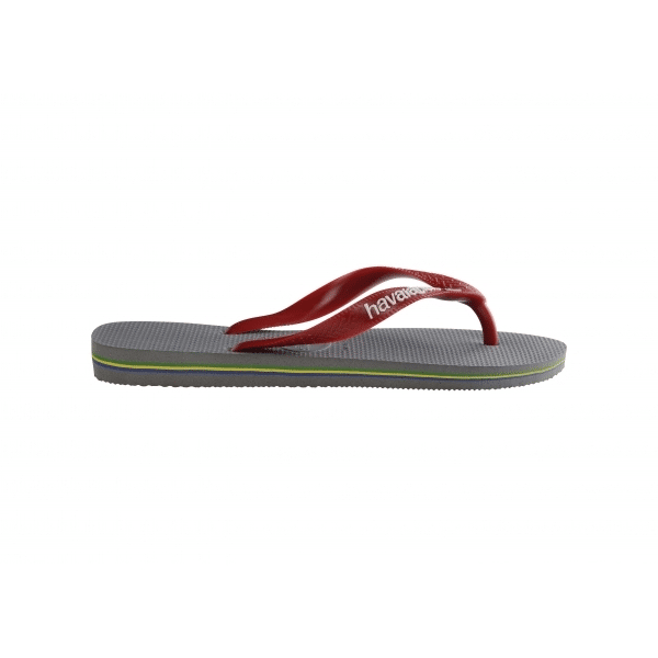 Havaianas Men's Brasil Logo Red Grey