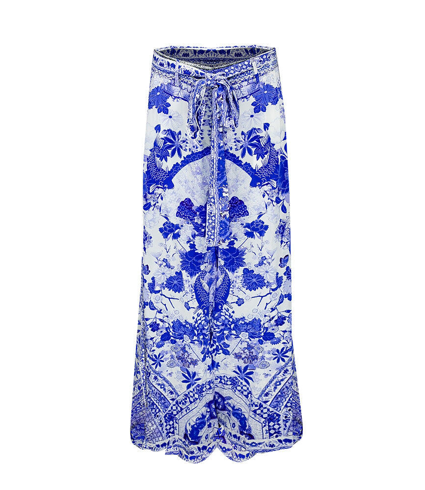 Camilla High Waisted Trouser With Godet The Fan Sea