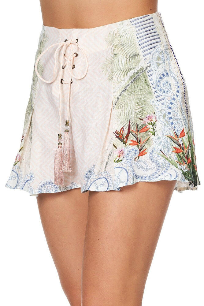 Lace Up Front Shorts Beach Shack