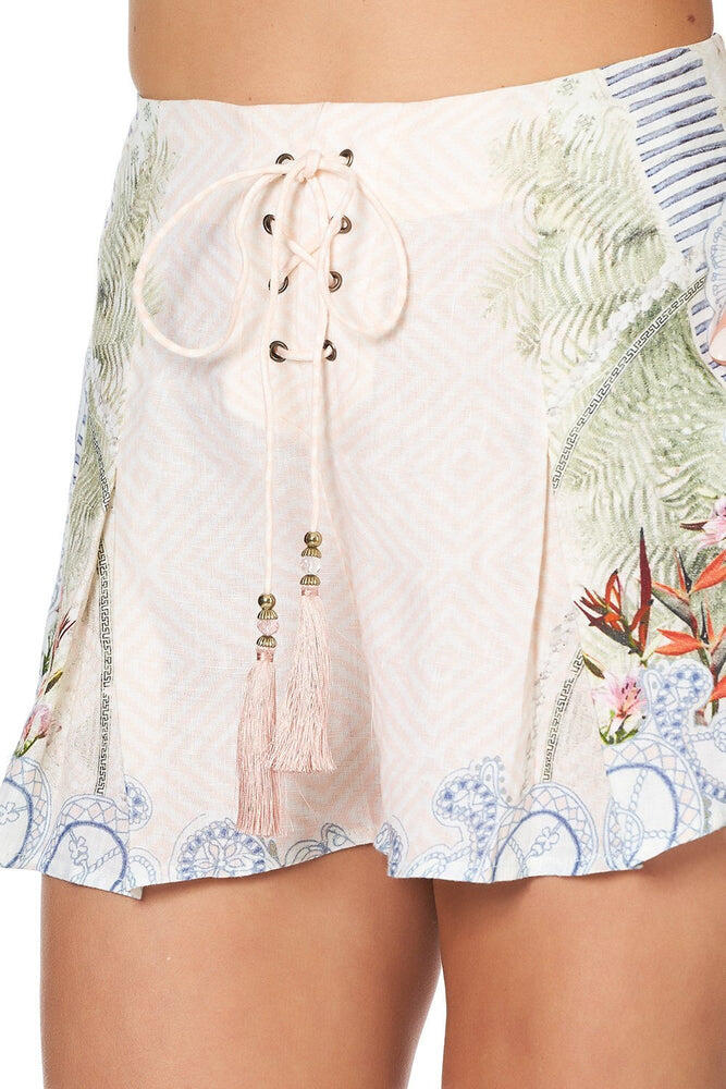 Lace Up Front Shorts