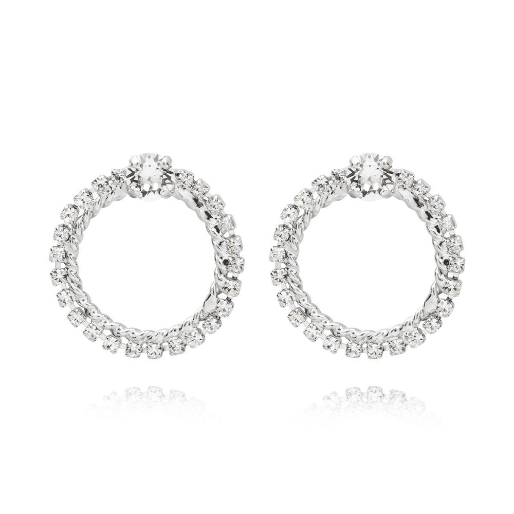 Endless Love Earrings Crystal Rhodium