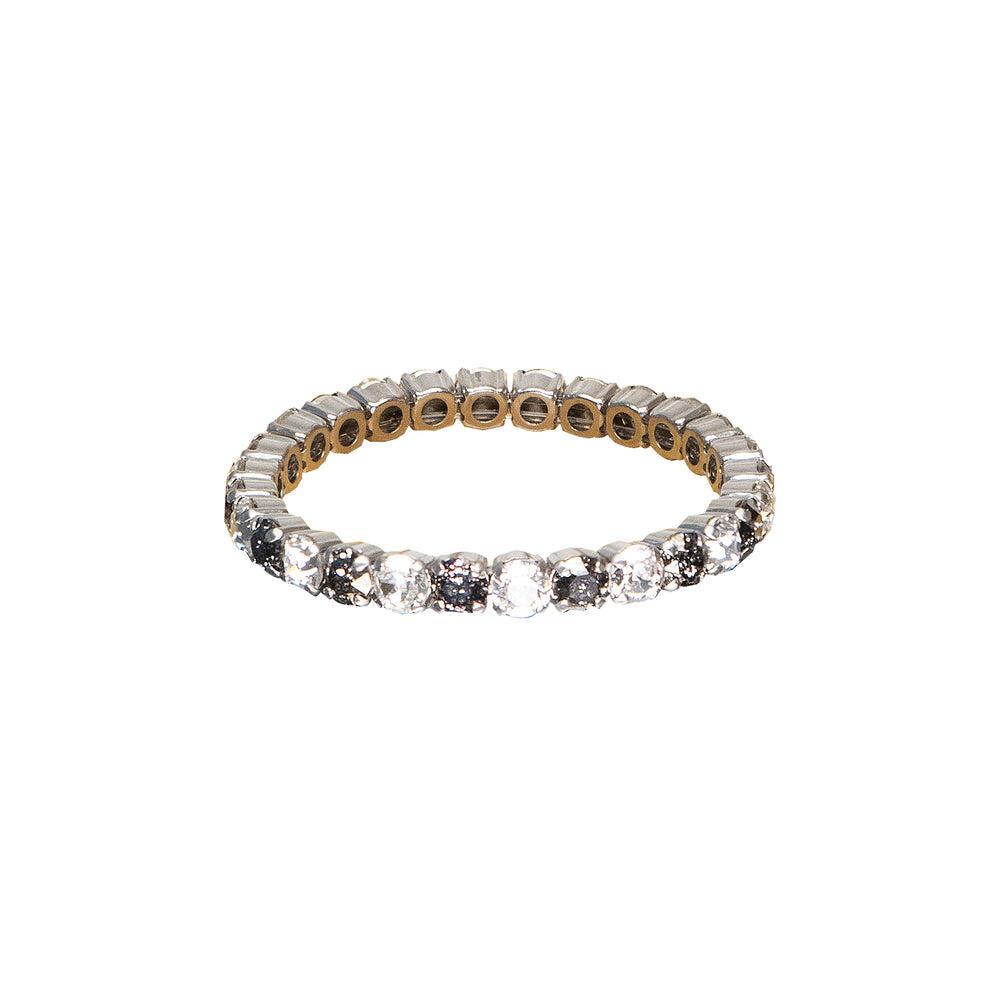 Mini Stretch Bracelet Crystal/Black Patina Rhodium