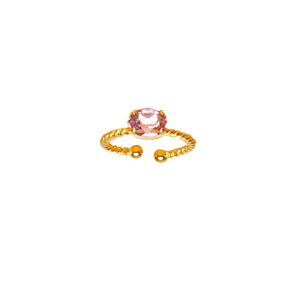 Petite Drop Ring Rose