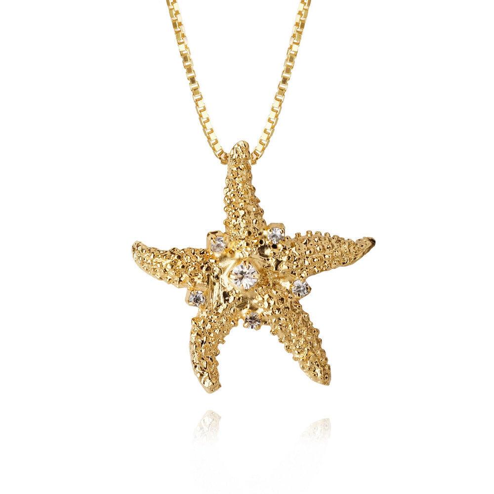 Sea Star Necklace Crystal