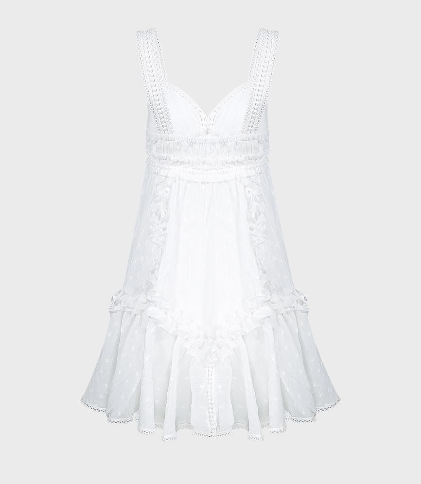 Mini Dress With Ruffles and Lace