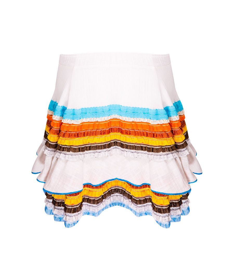 CHIO Skirt With Knit Detailing