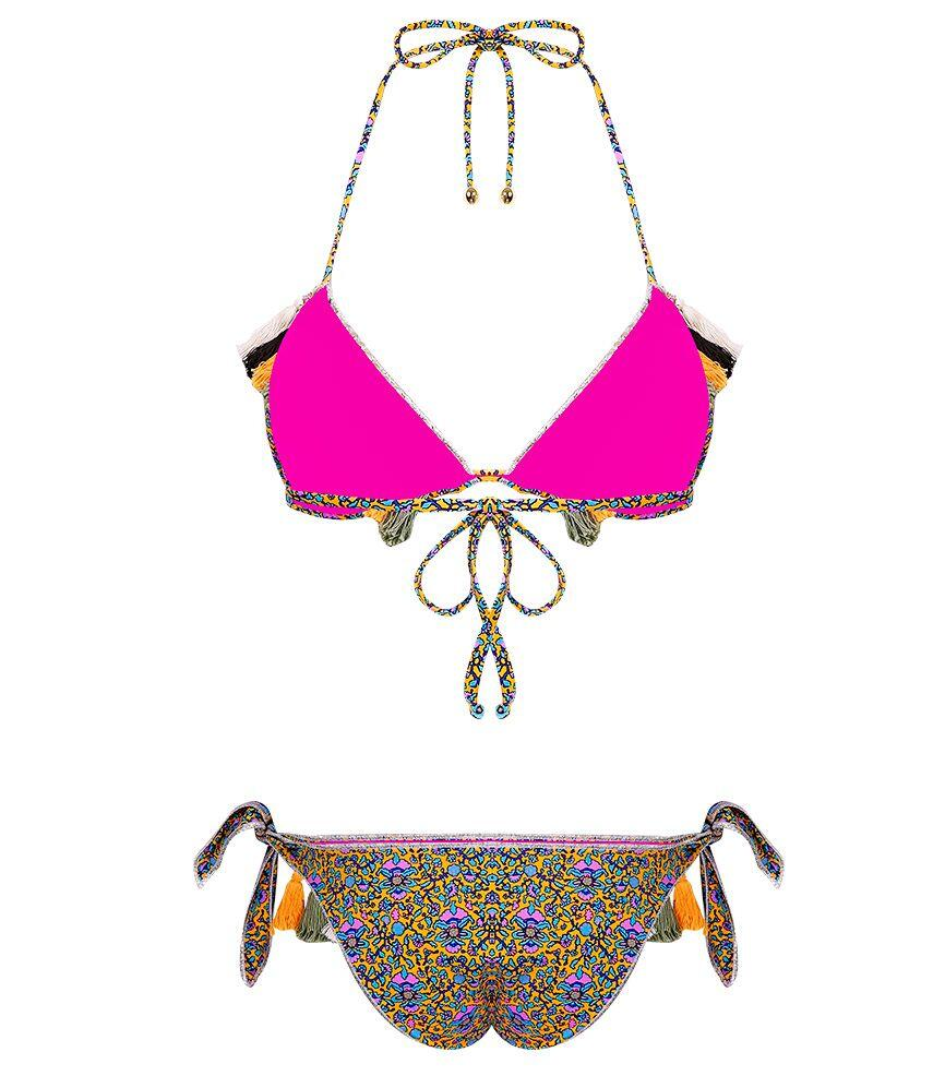 CHIO Embroidered Tassel Bikini