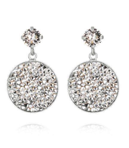 Chloe Rocks Earrings Crystal Rhodium