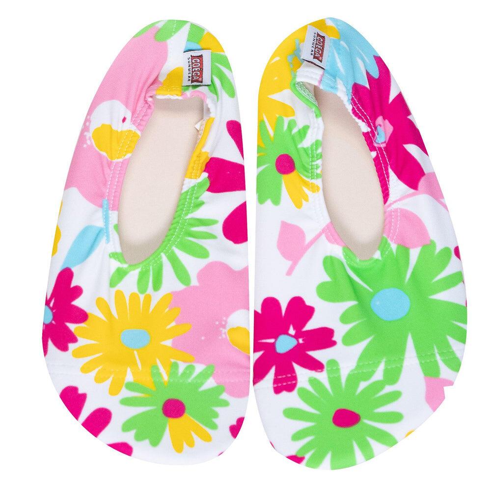 Coega Colourful Flower Print Pool and Beach Shoes