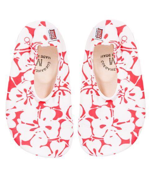 Coega Hibiscus Pattern Pool and Beach Shoes