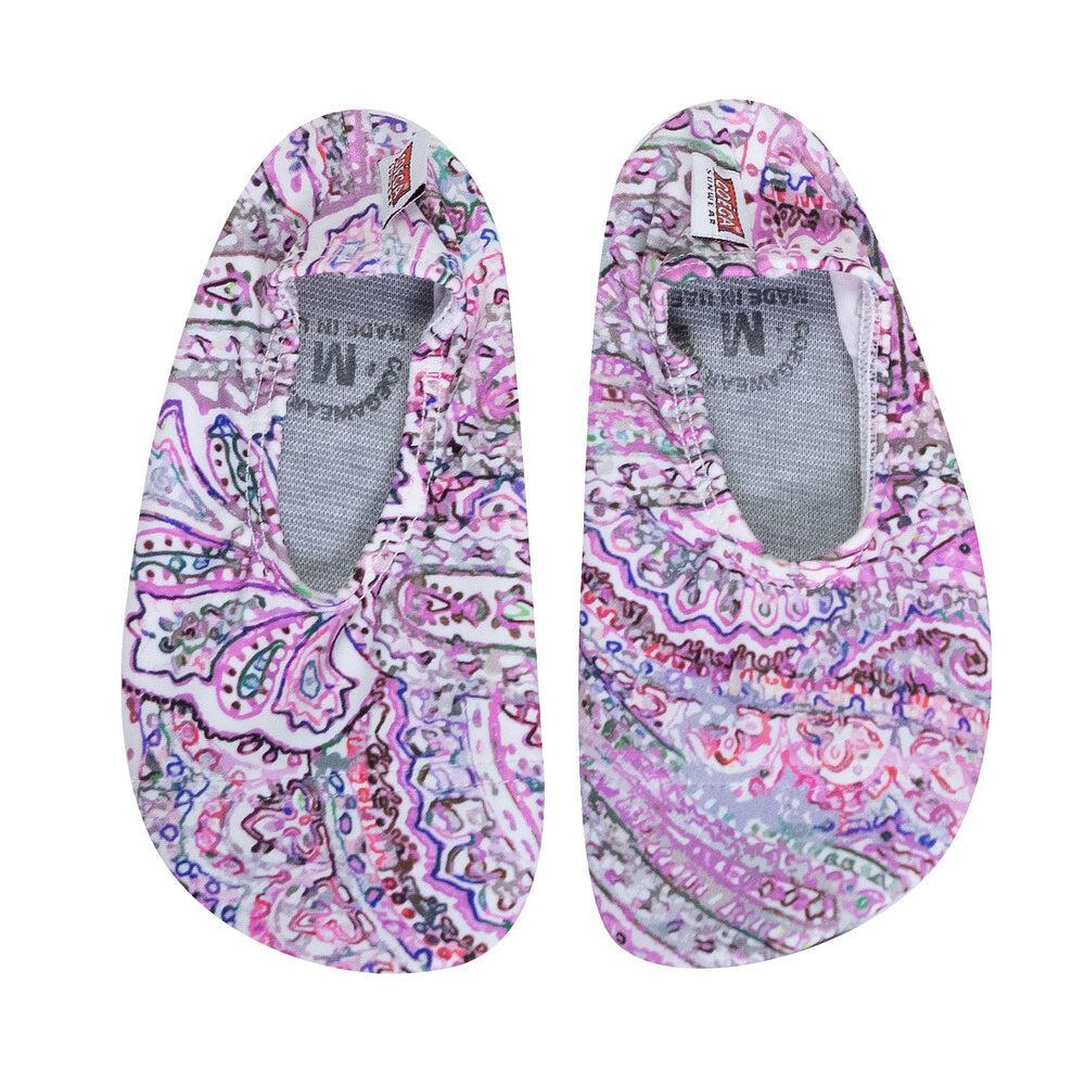 Coega Paisley Purple Pool and Beach Shoes