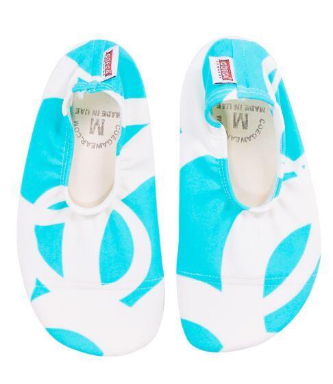 Coega Turquoise Print Pool & Beach Shoes