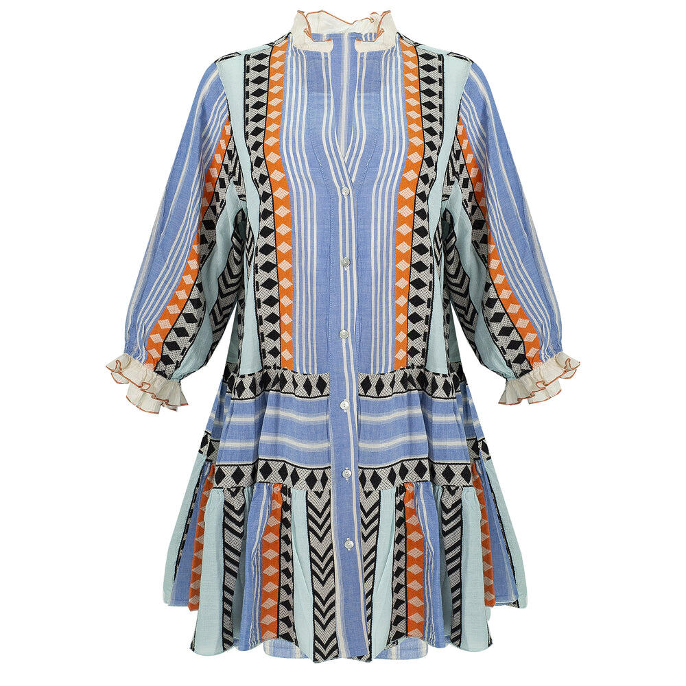 Zakar Xanthi Dress Blue/Orange