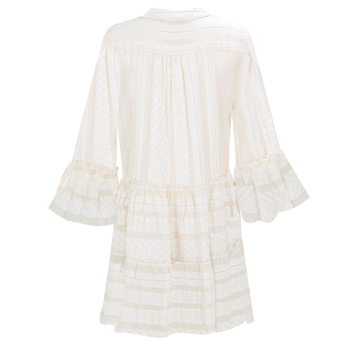 Ella Short Dress Ecru/White