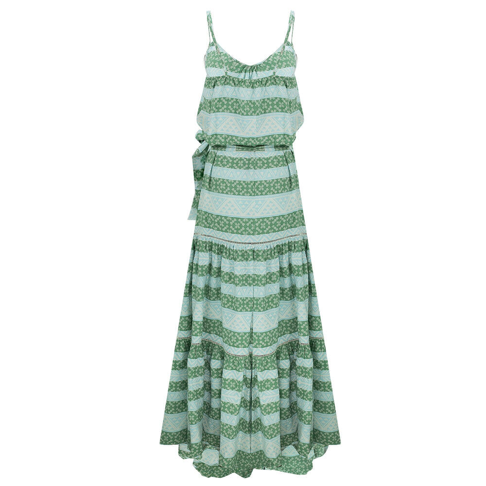 Zakar Chara Long Dress Green/Mint