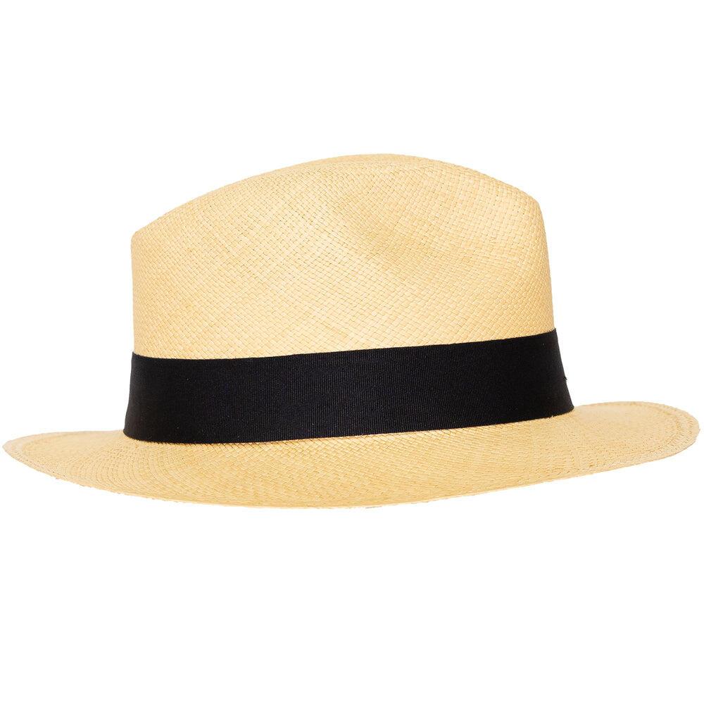 Panama Hat Unisex Classic Beige with Black Band